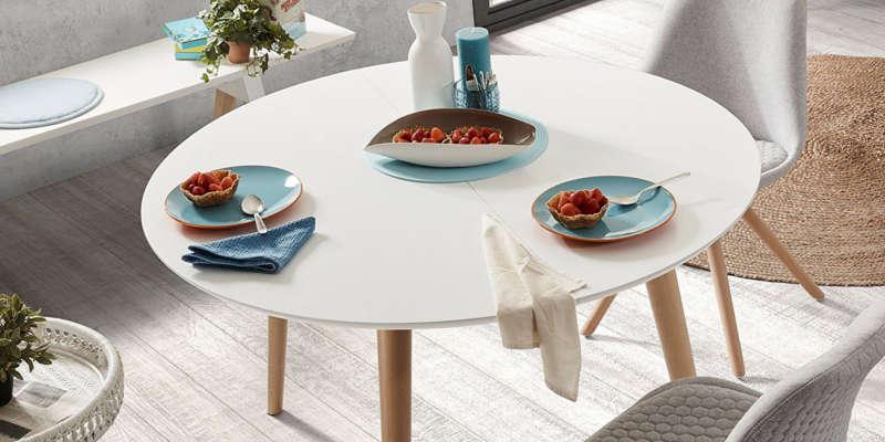 La mesa redonda extetensble es muy práctica comprar barata baratas oferta ofertas precio precios online