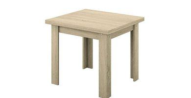 Mesa extensible cuadrada de madera