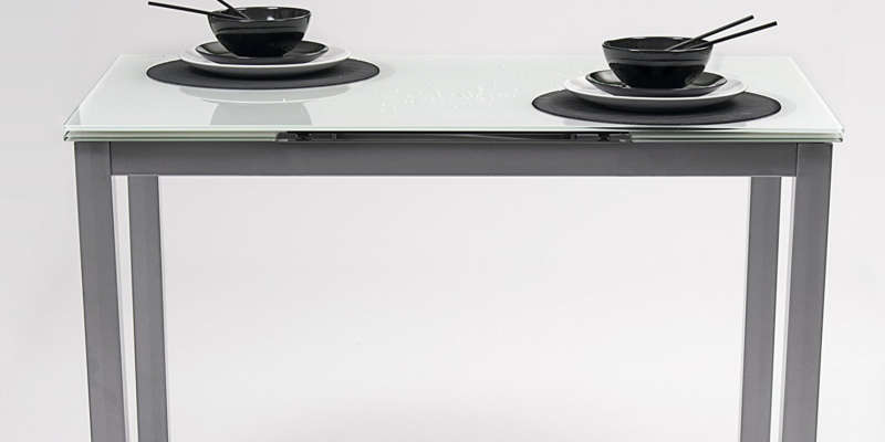 Mesa de cocina extensible cristal homely - Mesa consola extensible conforama ...